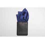 ポケットチーフ ガローズポン GALLOW'S刻印入り|Wスリーピークス|ブルー|ポリエステルサテン